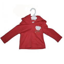 Hooded Jacket With Embroidery Red 0-6mths LI5488