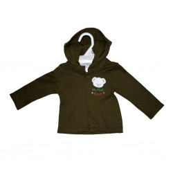Hooded Jacket With Embroidery Olive Green 6-12mths LI5488