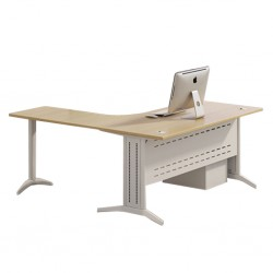 Desk L Shape 3 Drawers With Central Locking System