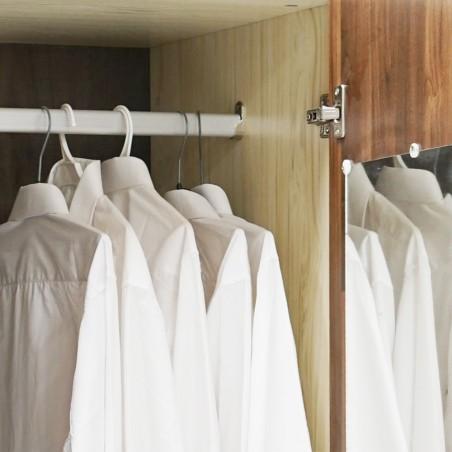 Tripoli Wardrobe 4 Doors MDF Kiaat and Creamywood