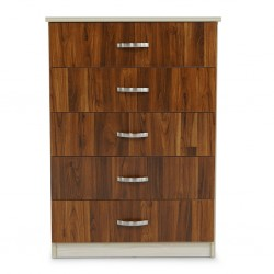 Tripoli Chest of Drawers MDF Kiaat and Creamywood