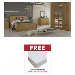 Rustic Bedroom Set 180x200 cm & Free Slumberland Flexi King Size 180x200cm