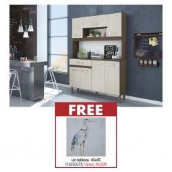 Kit Magazin 120 Kitchen Unit Almond Rustic & Free Painting 45 x 45 cm MDF + Fabric