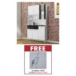 Golden Kitchen Unit PB White/Brown & Free Painting 45 x 45 cm MDF + Fabric
