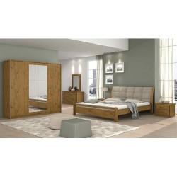 Houston Bedroom Set 180x200 cm Brown