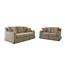Madison Sofa 3+2 In Fabric W/4 Cushions