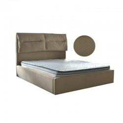 Joanne Bed 150x190 cm Beige fabric