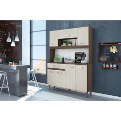 Kit Magazin 120 Kitchen Unit Almond Rustic