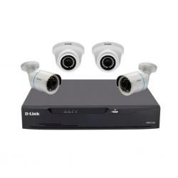 DLINK 4 Cameras Kit DCS-P4