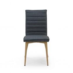 Elfa Chair Metal & Black Fabric Cushion