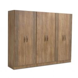 Cardiff Wardrobe 6 Doors PB Greyish Brown