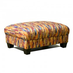 Delance Ottoman in Fabric Aquarelle