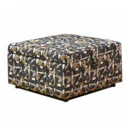 Shine Penington Ottoman in Fabric Splash Indigo