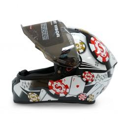 Studds Thunder D6 Black N6 06973 Helmet