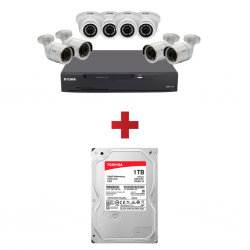 DLINK 8 Cameras Kit DCS-P8 & Free 1TB HDD for D Link