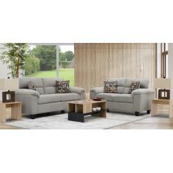 Penington Sofa 3+2 in Fabric Riley Cement