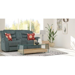 Santarelli Recliner LVST with Console Grey