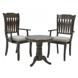 Nigel Table and 2 Armchairs Solid Wood