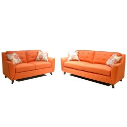 Carbini 3+2 Sofa in Fabric Schi 2 Saffrom