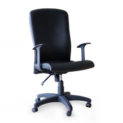 Pansy High Back Chair With Armrest TK22 Semi Leather