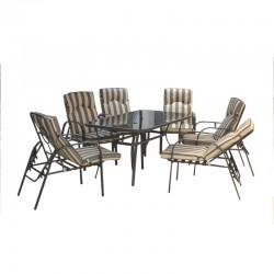 Seabreeze Andrea Table and 6 chairs