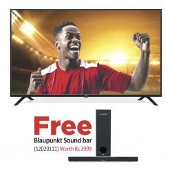 """JVC LT-65N885M 65"""" UHD DVB-T2 SMART TV & Free Blaupunkt SBW-200 Wired 2.1CH Soundbar System"""