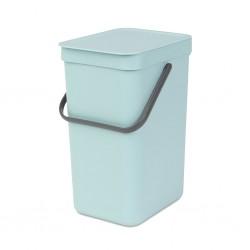 """Brabantia 109744 12L Mint Sort & Go Waste Bin 10YW """"O"""""""
