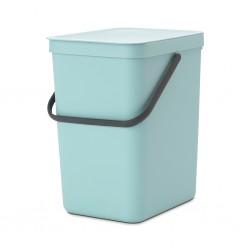 """Brabantia 129902 25L Mint Sort & Go Waste Bin 10YW """"O"""""""