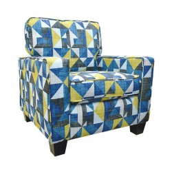 Sunshine Fenway Accent Chair in Fabric Semaphore