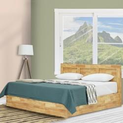 Walton Bed 150x190 cm MDF Joint Wood Grey
