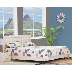 Emilia Bed 150x190 cm MDF Grey