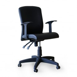 Mimosa Office Chair With Armrest TK20 Semi Leather