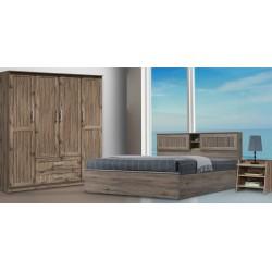 Maia Bedroom Set 150x190cm Safari Oak