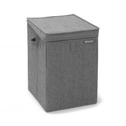 "Brabantia 120442 35L Pepper Black Stackable Laundry Box 2YW  ""O"""