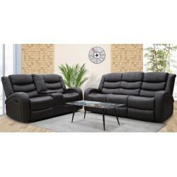 Veneto Sofa 3+2 Brown Leather Gel