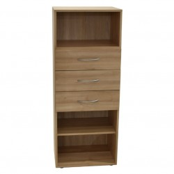 Drexel Prima Shelving With 3 Drawers/ 1 Shelf Beec