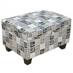 Alps Ottoman Quadrant Grey (FG) Colour Fabric