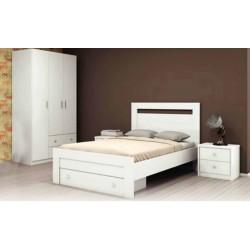 Venus Bedroom Set 120x200 cm White Finish