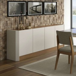 Preto Dag 4 Drs Sideboard Off-white/Natural PB