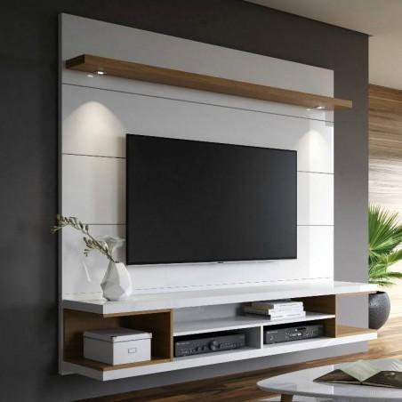 Axel High TV Unit White Gloss/Natural PB