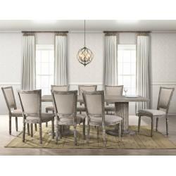 Alice Table and 8 Chairs Oak Veneer/MDF