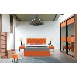 Bari Bedroom Set 160x200 cm Orange