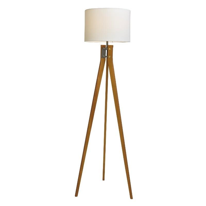 Floor Lamp Solid Wood Natural Wood Finish