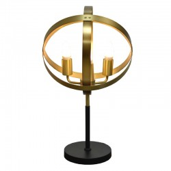 Table Lamp Metal Satin Brass+Black Finish