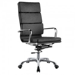High Back Office Chair Black PU