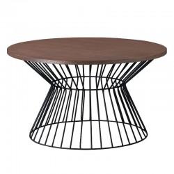Fabiano Coffee Table Walnut & Black