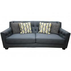 Pierce 3 Seater D.Blue Colour Fabric