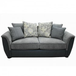 Taraval 2 Seater D.Blue & Grey Colour Fabric