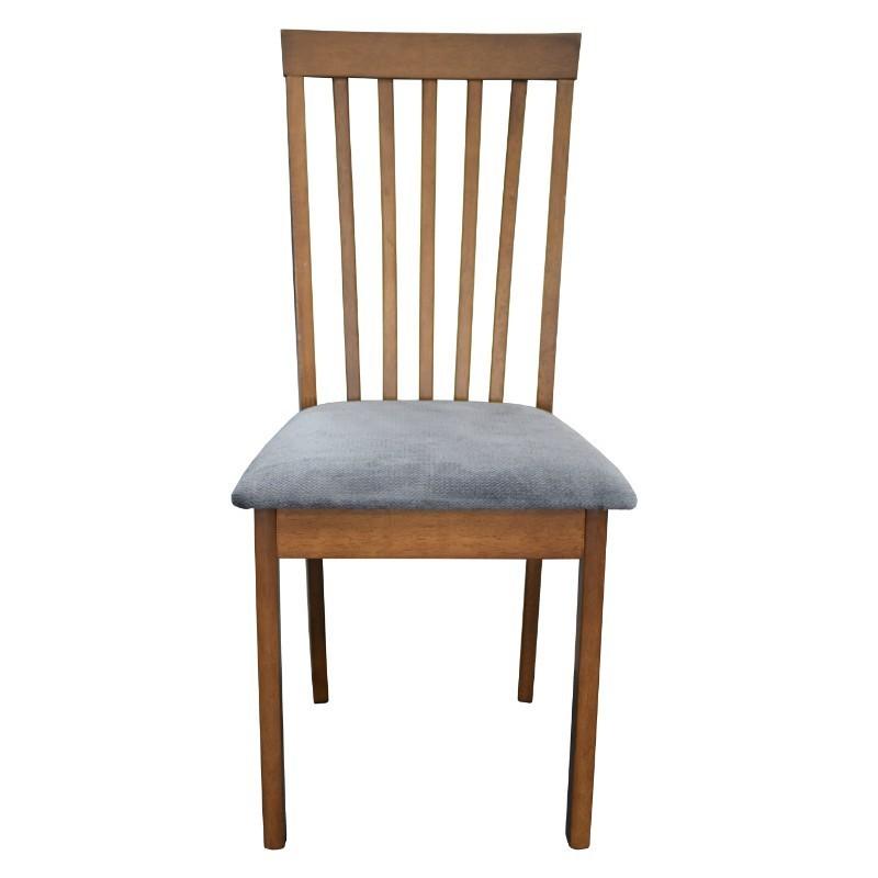 Boris Chair Grey Fabric Seat