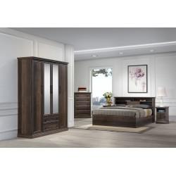 Hayden Bedroom Set 150x190cm Hazel Walnut 3D